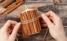 Pasidaryk pats: žvakė su cinamono lazdelėmis