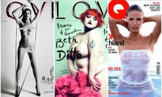 Kate Moss, Beth Ditto, Heidi Klum