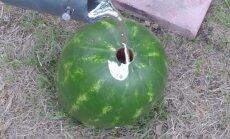Į arbūzą liejamas išlydytas aliuminis