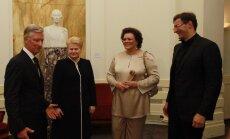 Belgijos karalius Filipas, Prezidentė Dalia Grybauskaitė, operos primadona Violeta Urmana ir dirigentas Modestas Pitrėnas