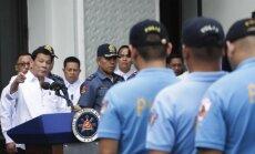 Filipinų prezidentas Rodrigo Duterte plūdo nusikaltusius policijos pareigūnų