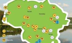 Uodų ir mašalų žemėlapis