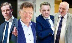 Gabrielius Landsbergis, Algirdas Butkevičius, Eligijus Masiulis ir Valentinas Mazuronis