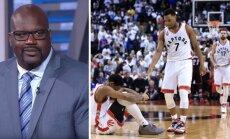 "Shaquille'as O'Nealas ir didysis Toronto ""Raptors"" trejetas (AFP/Scanpix nuotr.)"