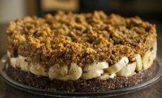 G. Gum firminis abrikosinis tortas: nekeptas, be miltų ir cukraus