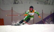 Lithuania's Ieva Januškevičiutė on course in the Druskininkai Snow Arena. Photo by Jānis Markvarts.