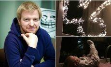 Tinklaraštininkas Mykolas Pleskas dėl nepadorios kalėdinės dekoracijos sulaukė net pareigūnų dėmesio