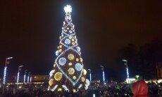 Įžiebta Kalėdinė eglutė Panevėžyje