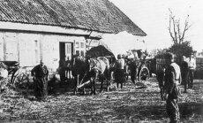 Pabėgėliai prie Klaipėdos. 1944 m. spalis.