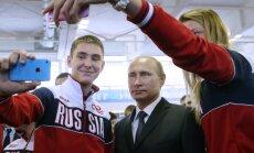 Vladimiras Putinas ir Rusijos sportininkai