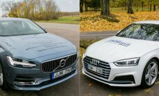Volvo S90 ir Audi A5 Coupe