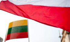 Lithuanian and Polish flags