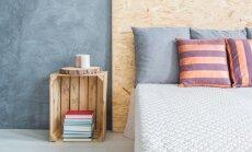 Nebijantiems originalių sprendimų: dryžuotas miegamasis