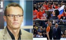 Romualdas Brazauskas nesutinka, kad teisėjai iš turkų atėmė Eurolygos titulą (DELFI ir Sputnik nuotr.)