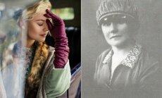 Toma Vaškevičiūtė, vaidinanti Marcelę Kubiliūtę (kairėje), Marcelė Kubiliūtė (dešinėje)