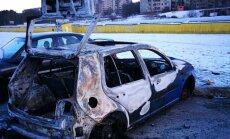 Piliečio užfiksuotas apleistas sudegęs automobilis