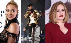 Beyonce, Justinas Bieberis, Adele