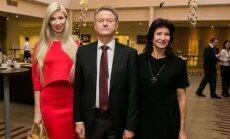 Rolandas Paksas with his family