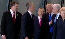 Bet kokia kaina priekyje: D. Trumpas šiurkščiai stumtelėjo Juodkalnijos lyderį