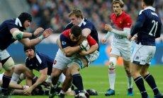 Prancūzijos ir Škotijos regbininkų grumtynės