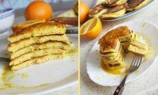 Apelsininiai blyneliai su apelsinų sirupu