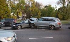 Didelė avarija Vilniuje - susidūrė šeši automobiliai