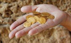 Izraelyje rastos senovinės auksinės monetos