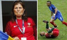 Dolores Aveiro, Cristiano Ronaldo ir Dimitri Payet (AP/Reuters/Scanpix nuotr.)