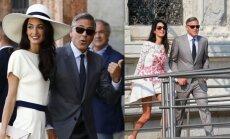 G. Clooney ir A. Alamuddin vestuvių akimirkos.