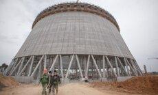 A tower at the Astravyets NPP