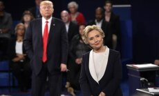 H. Clinton and  D. Trumpo during the thirds Presidential debate