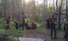 Misija Sibiras tvarko kapines Igarkoje