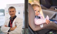 Gydytojas apie vaikus automobiliuose