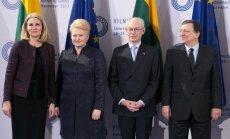 Iš kairės: H. Thorning-Schmidt, D. Grybauskaitė su kolegomis