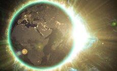 Saulėtekis, stebint iš kosmoso