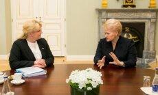 Algimanta Pabedinskienė and Dalia Grybauskaitė