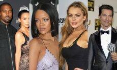 K. Westas, K. Kardashian, Rihanna, L. Lohan, M. McConaughey