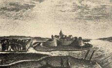 Klaipėdos pilis ir miestas, XVI a. graviūra