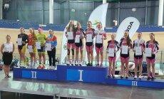 Jaunių merginų 3 km komandų persekiojimo lenktynių prizininkės