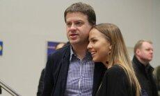 R. Skaisgirys su žmona Vaida