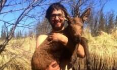 Aliaskos gyventojas išgelbėjo skęstantį briedžio jauniklį