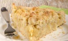 Varškės ir kriaušių pyragas