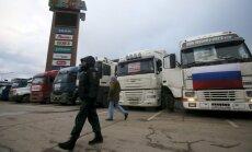 Maskvoje protestupja vilkikų vairuotojai