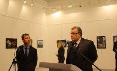 Andrėjus Karlovas per parodą prieš pat užpuolimą