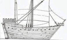 Laivo Hanneke Wrome eskizas (R. Koivusaari iliustr.)