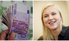 Eurų banknotai, Rūta Meilutytė