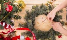 Kaip pasigaminti kalėdinį vainiką iš nieko