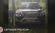 Palangoje pavogtas Lexus aptiktas miške