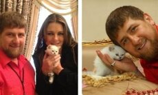 Ramzanas Kadyrovas ir Elizabeth Hurley
