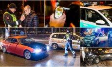 """Naktį Vilniaus senamiestyje siautėjęs BMW vairuotojas """"atskrido"""" tiesiai policininkams į rankas"""